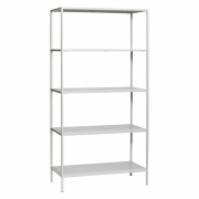 Bokhylla 'Five shelves' - Vit/Metall
