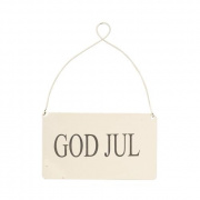 Skylt - God Jul (vit)