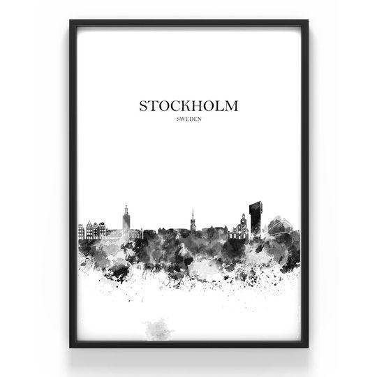 Poster - Stockholm  i gruppen INREDNING / Dekoration / Tavlor / Skyltar / Posters hos Reforma Sthlm  (S1r)