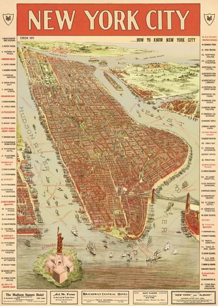 Poster - NYC Vintage i gruppen INREDNING / Tavlor & posters / Posters 50 x 70 cm hos Reforma Sthlm  (WRAP_MAPNYC3)