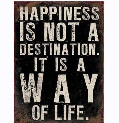 Skylt Happiness is not Reforma S