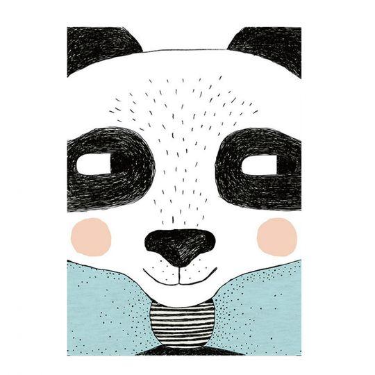 Canvas Poster - Glad Panda i gruppen RUM   Barnrum   Tavlor   Posters hos  Reforma 7724b85c0c427