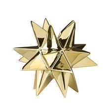 Ljusstake stjärna - Guld · Bloomingville 0304285c4045d