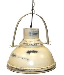 Factorylampa vintage - patinerad vit