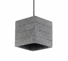 Taklampa 'Stone Cube' - Cement