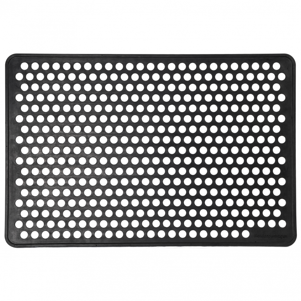 Dörrmatta i gummi 'Dot' - 90x60 cm