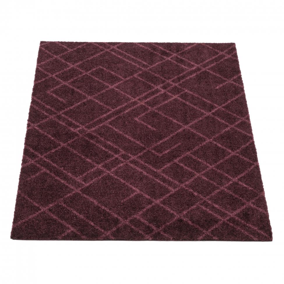 Hallmatta 'Lines' - Mörkröd 90x60 cm