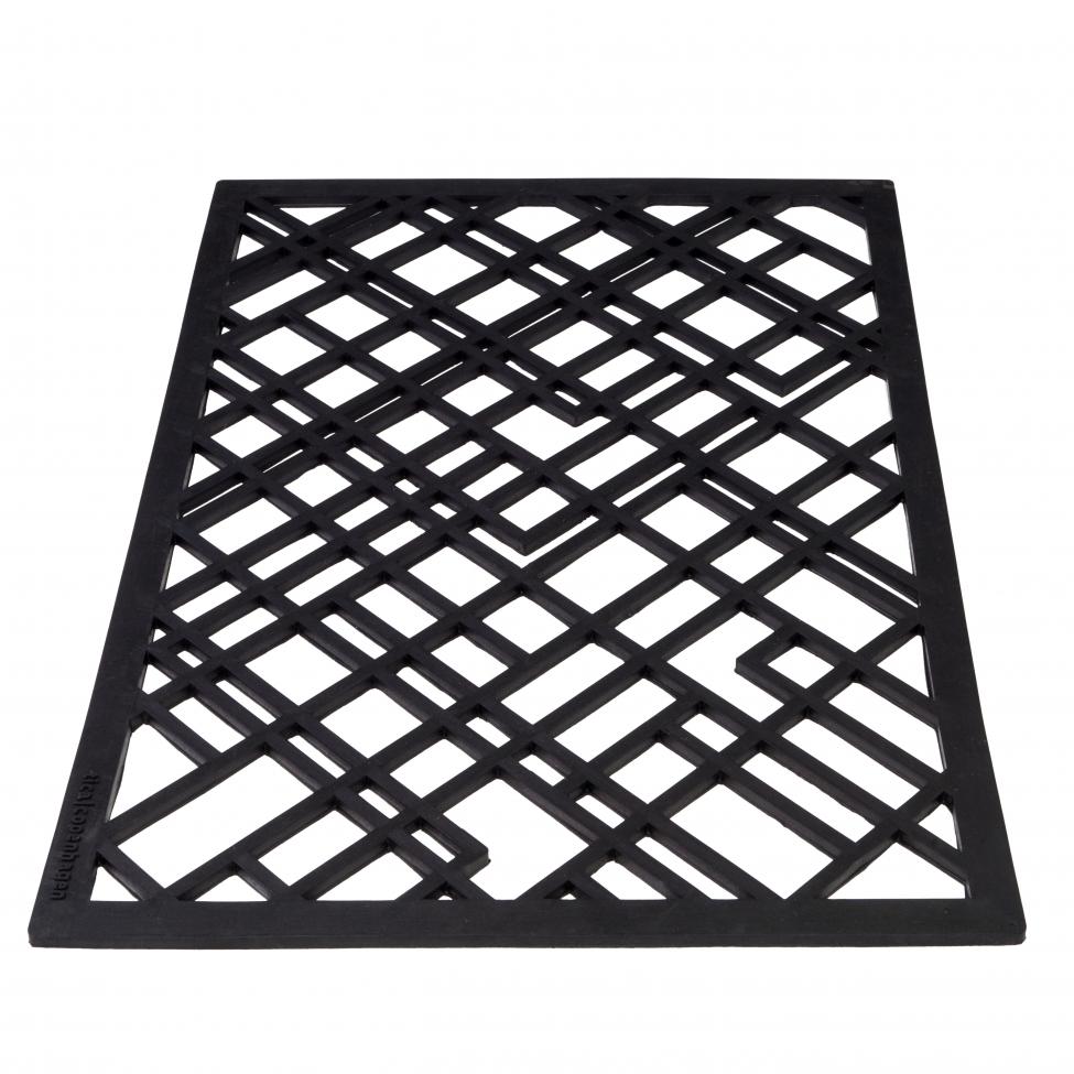 Dörrmatta i gummi 'Lines' - 90x60 cm