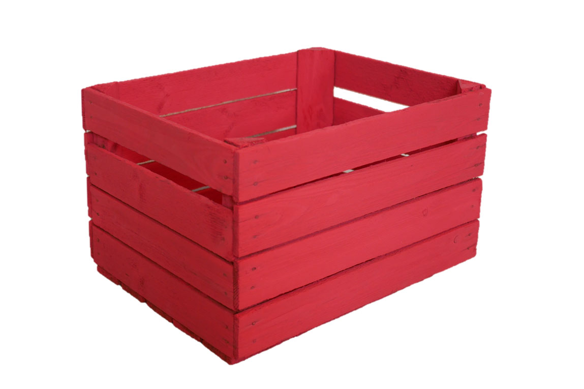 Äppellåda Röd - vintage