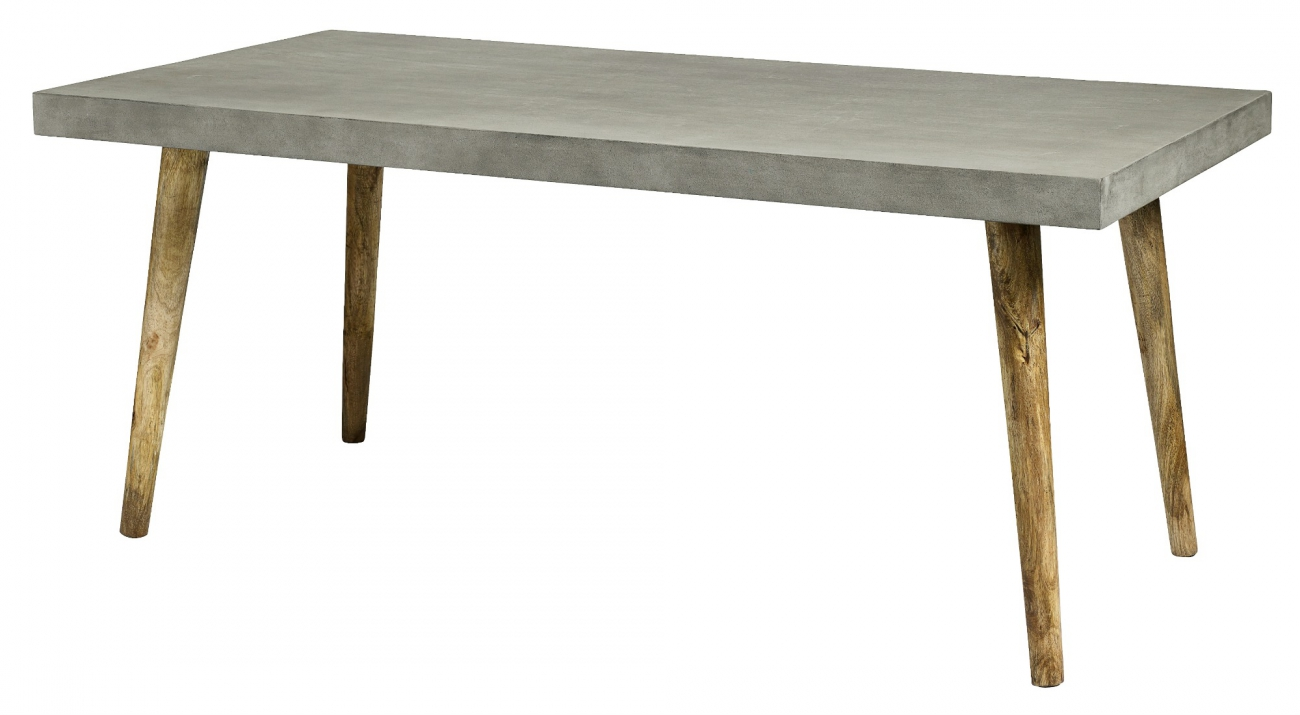 Matbord - Grå betong/Trä
