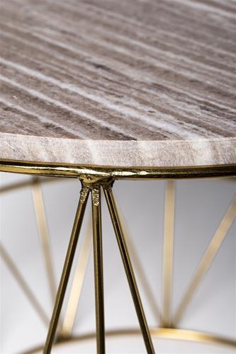 Soffbord soffbord guld : Soffbord runt guld / beige marmor - Bloomingville - Reforma Sthlm