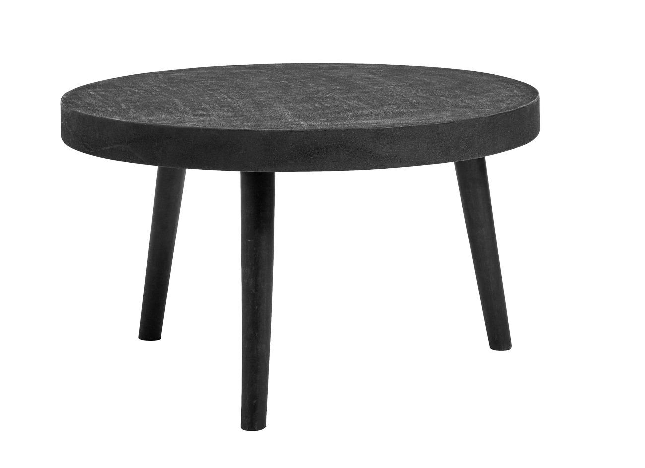Soffbord - Svart betong/trä