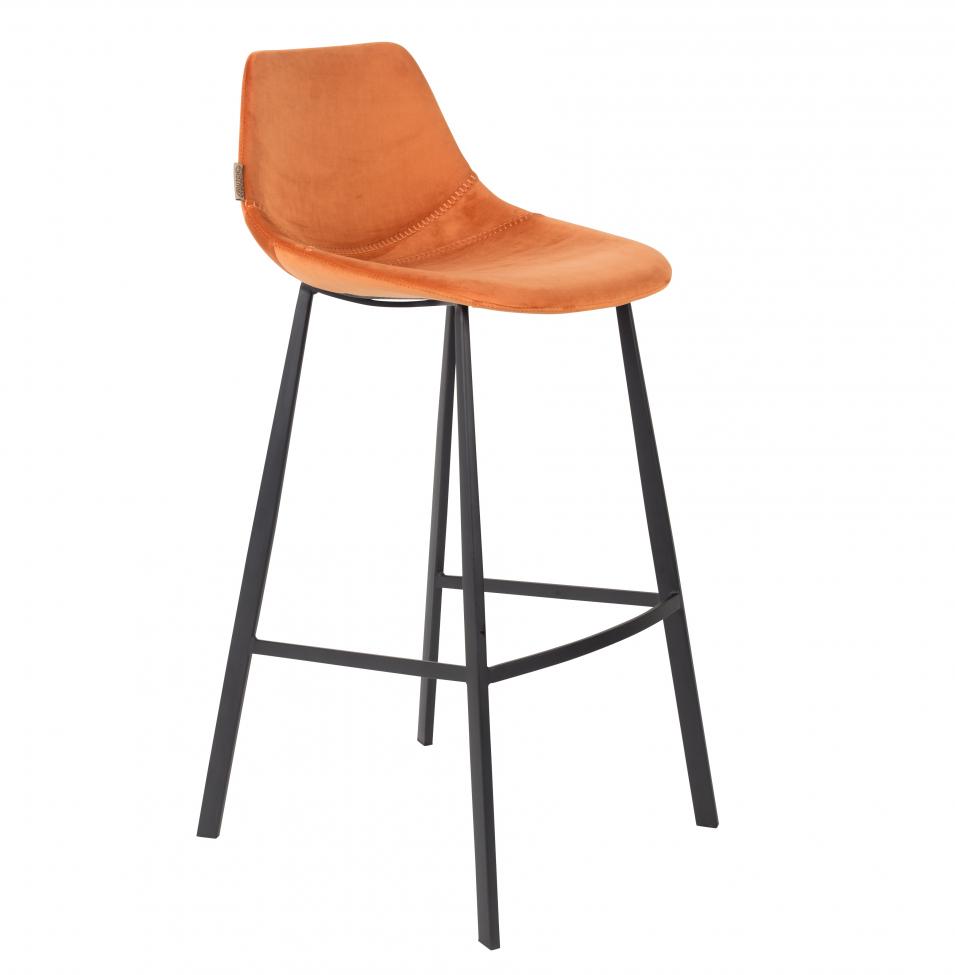 Barstol 'Franky' - Orange/Sammet L