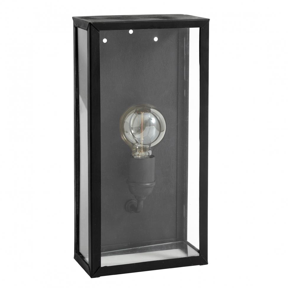 Vägglampa 'Lantern' - Svart