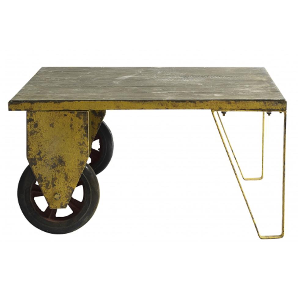 Vintage bord med hjul - Train