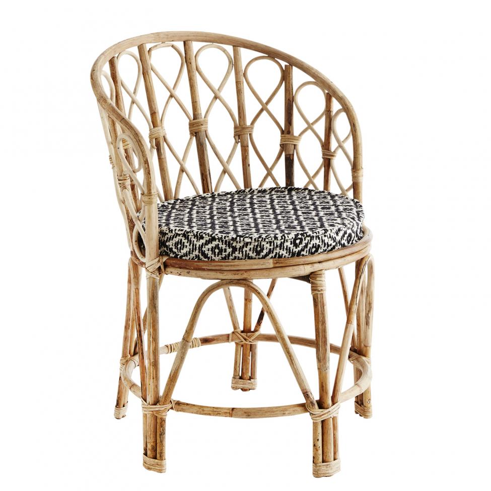 Bambustol med kudde - Natur