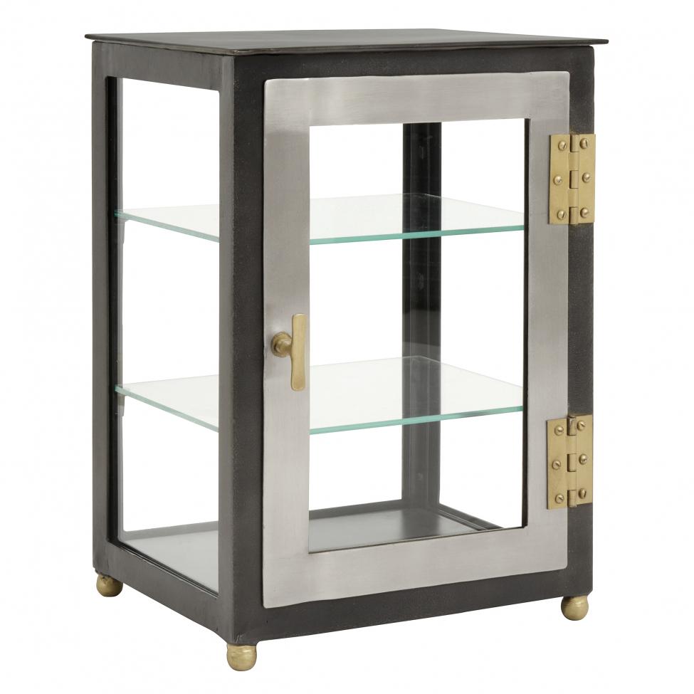 Glasskåp 'Display' - Järn/Mässing