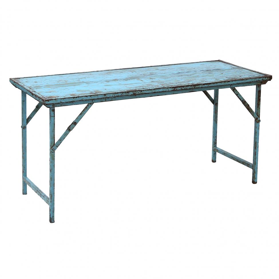 Fällbord 'Blue' - Återvunnet trä 153x59