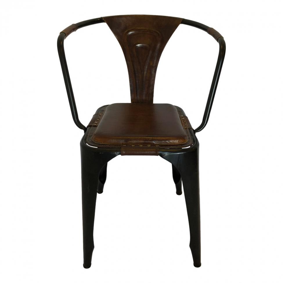 Vintage matstol - Läder/Järn