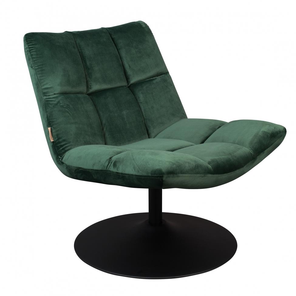 Fåtölj 'Bar' - Sammet/Grön