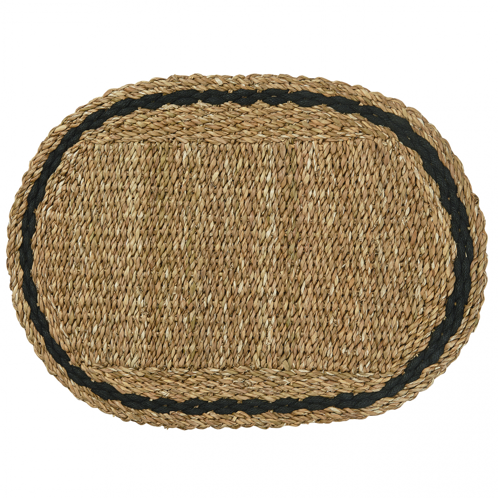 Dörrmatta 'Oval' - Sjögräs