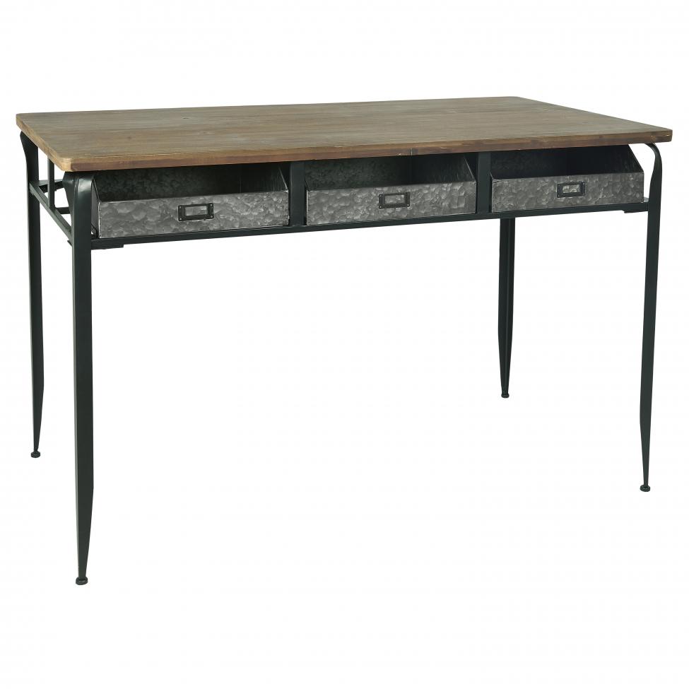 Skrivbord 'Industri' - Järn/Trä
