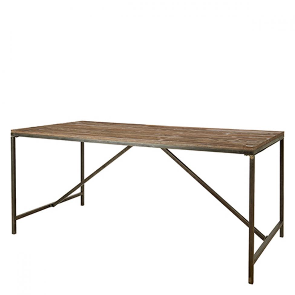 Rustikt matbord 'William' - Trä/Järn 180x90