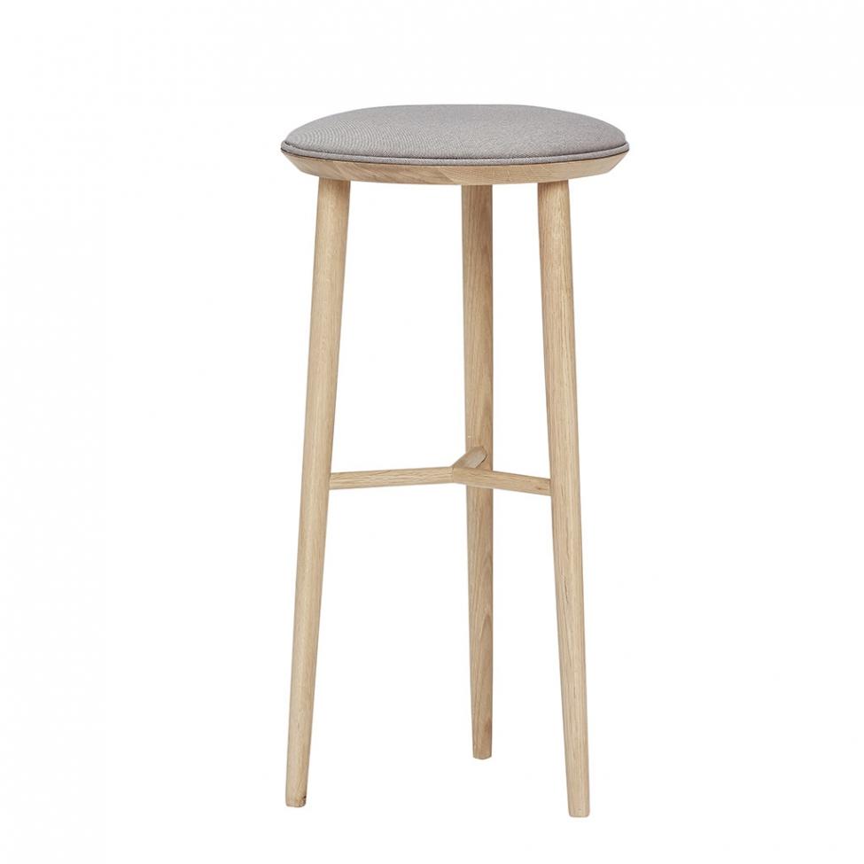 Stilren barstol med sittkudde - Trä