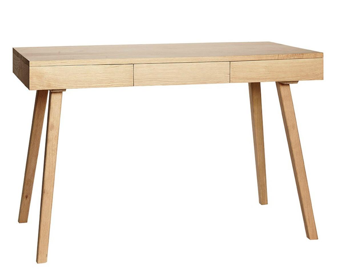 Skrivbord med lådor - Trä/natur