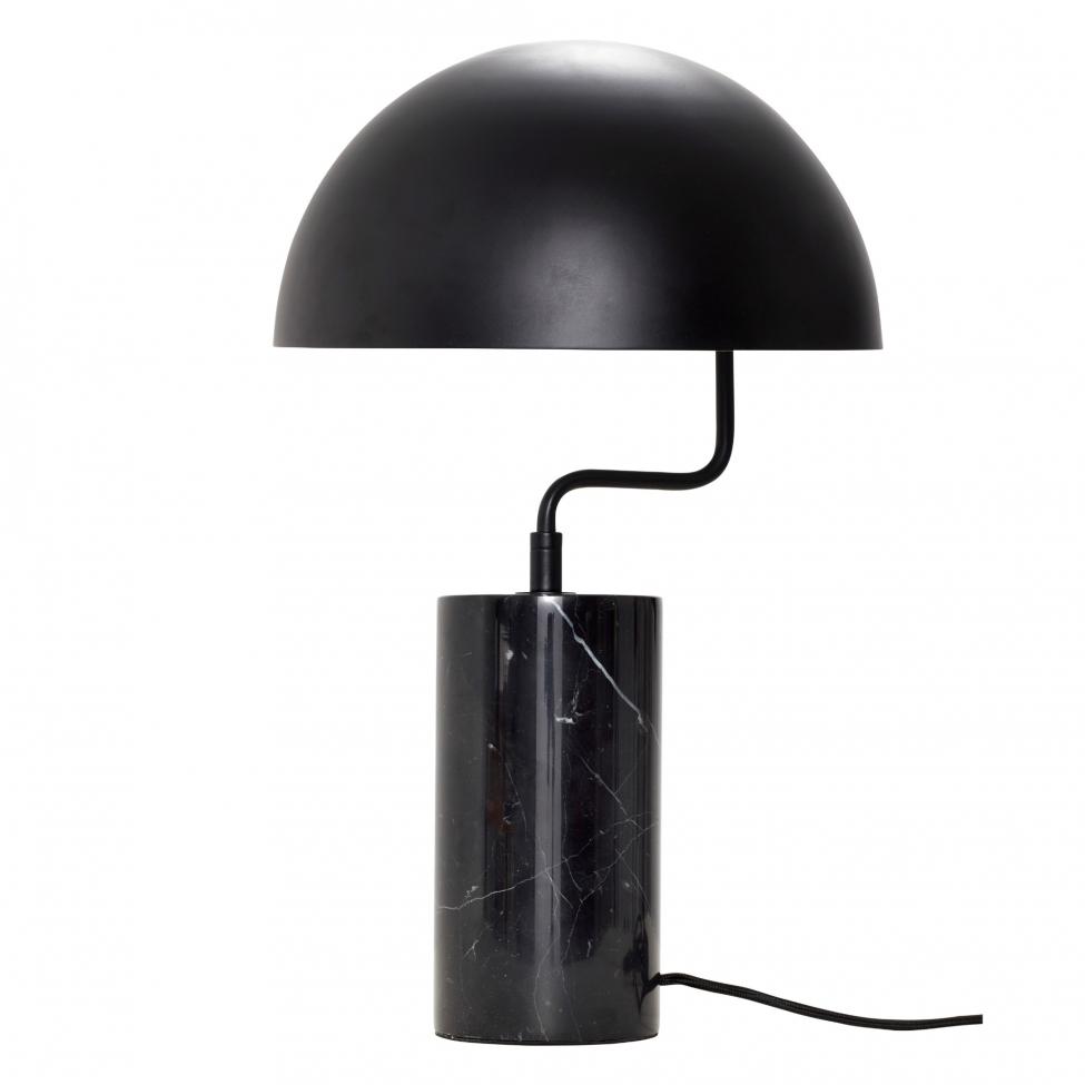Bordslampa 'Marble' - Svart/Marmor