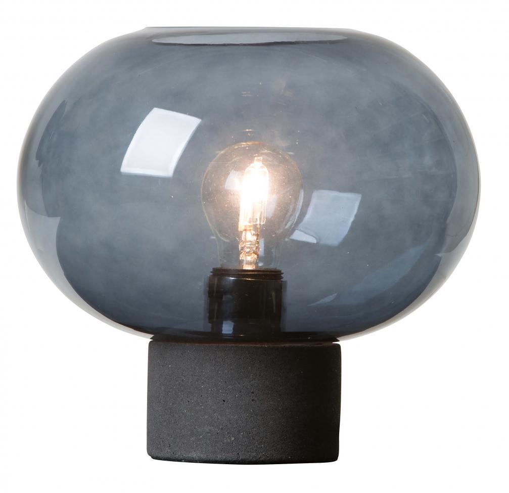 Bordslampa 'Alberta' -Blå/Svart