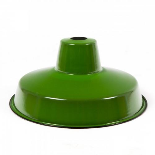 Lampskärm i emalj - Grön