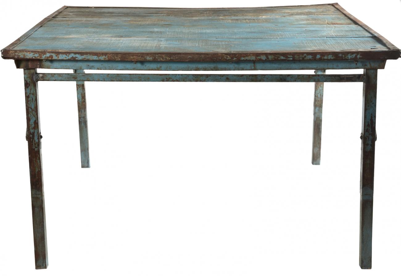Bord blått vintage - 123 x 123 cm