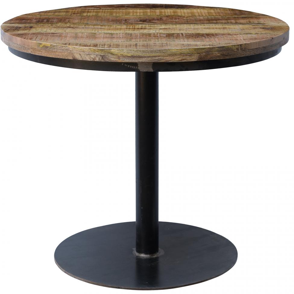 Runt cafébord - Trä/Metall