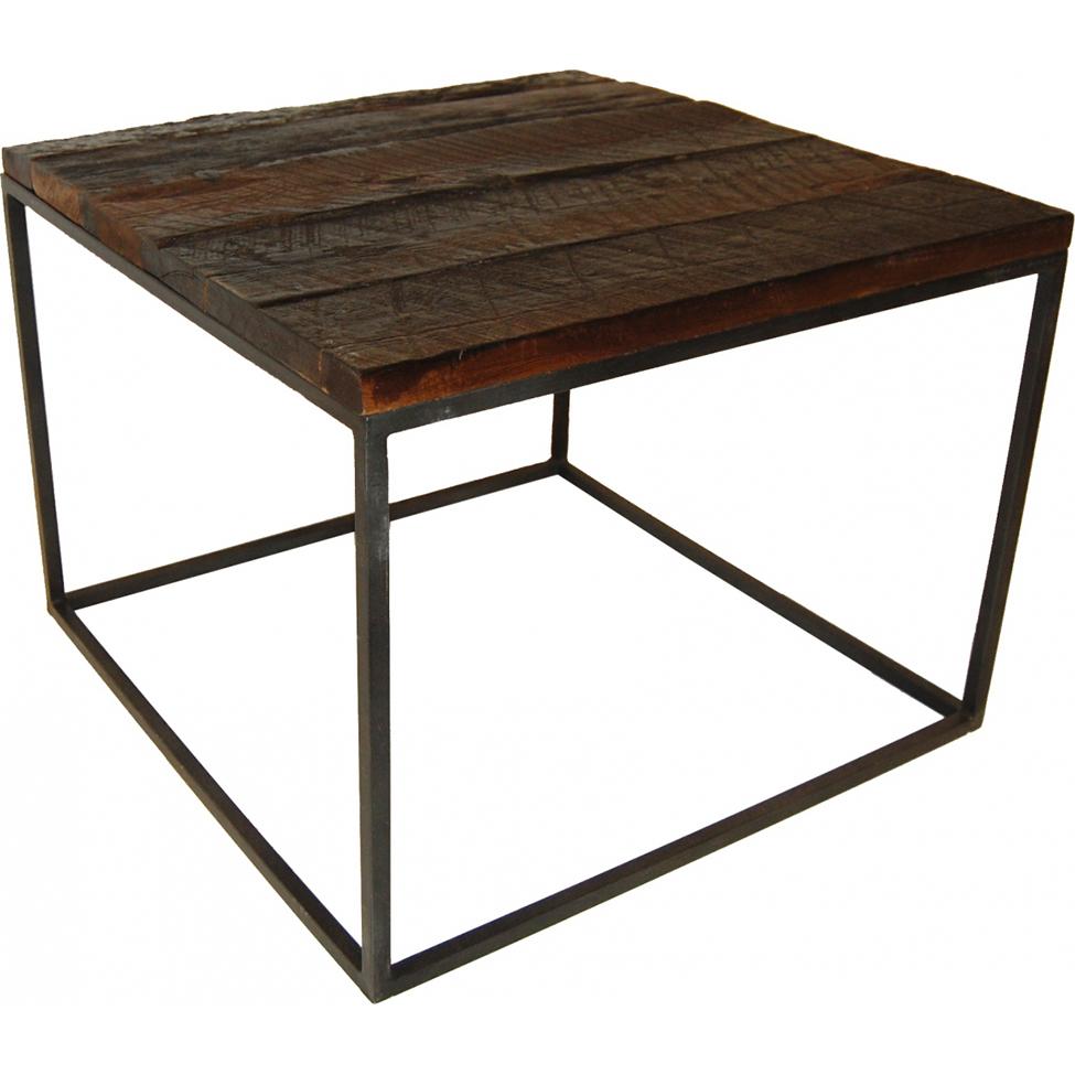 Soffbord trä och järn - vintage