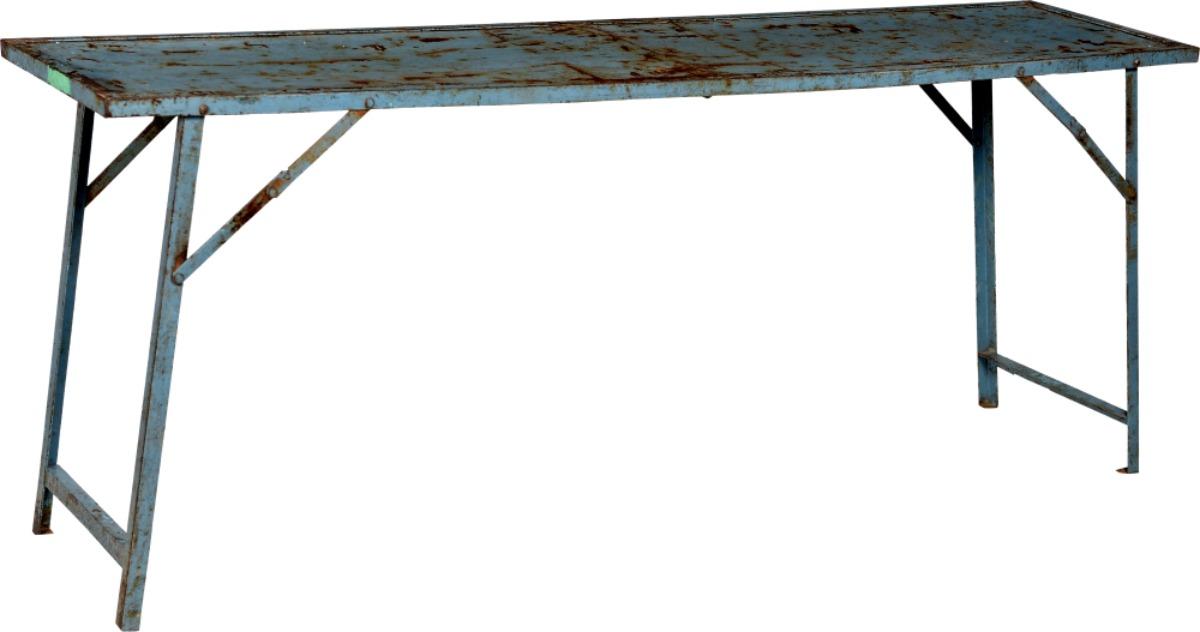 Vintage fällbart bord - Blå