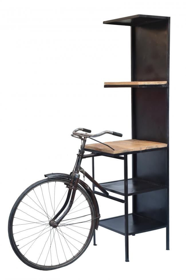 Bokhylla 'Vintage bicycle' - Trä/Järn