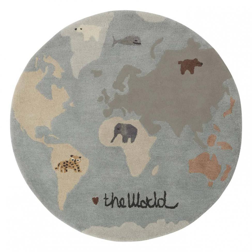 Rund matta 'The World