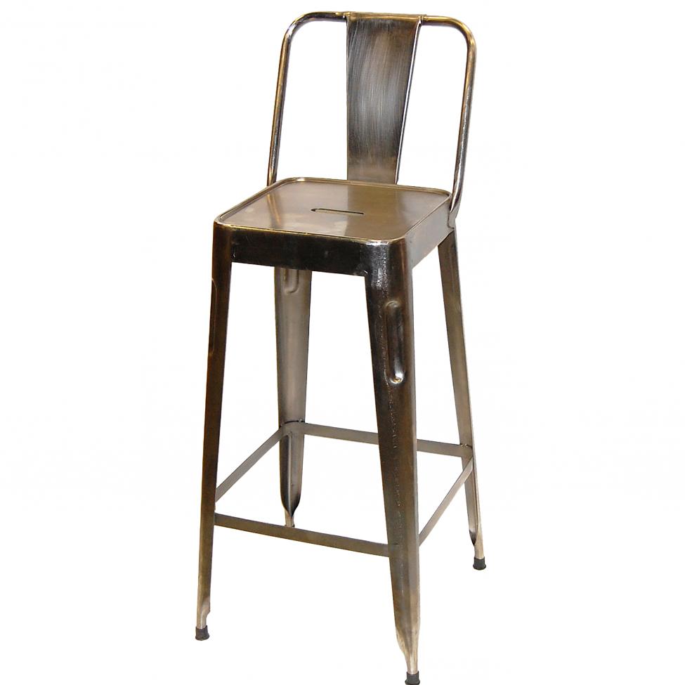 Barstol 'Montmartre' - Rustik stål