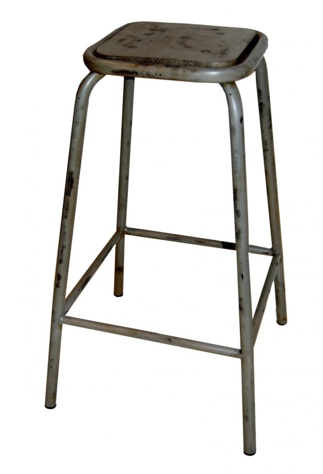 Pall 75 cm stål -vintage