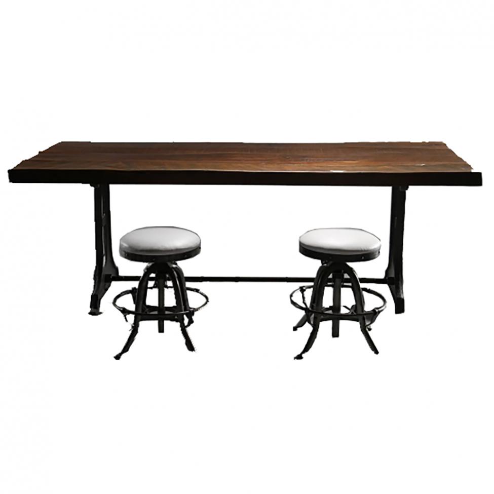 Matbord - Återvunnet trä 160x90