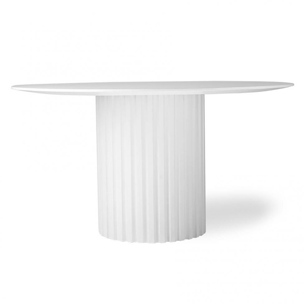 Matbord 'Pillar' - Vit Ø140