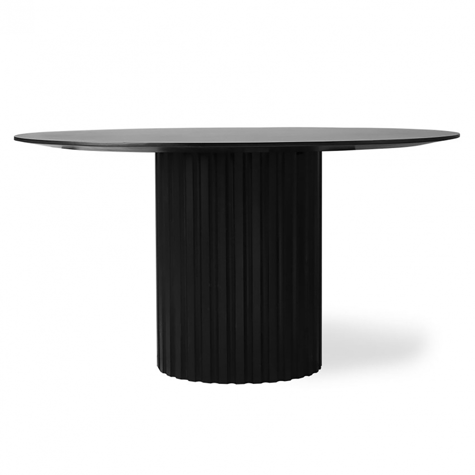 Matbord 'Pillar' - Svart Ø140