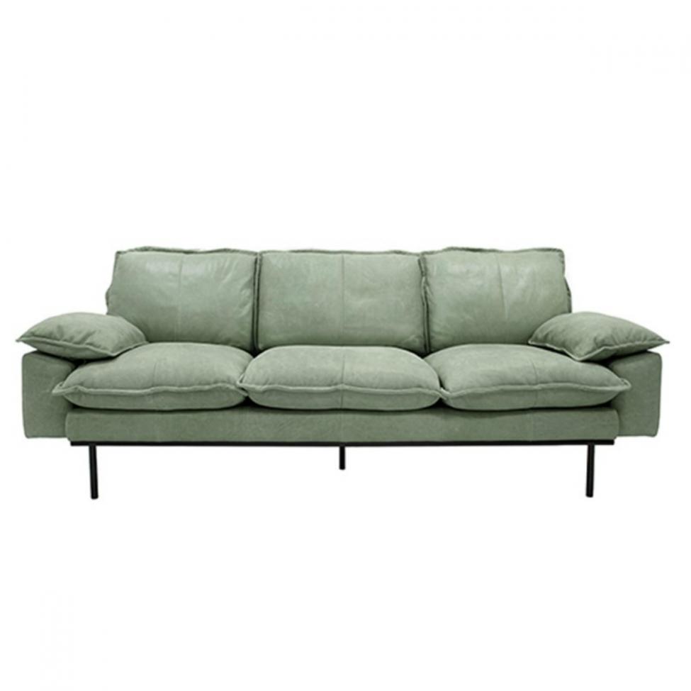 Soffa 'Retro' - Läder/Mintgrön