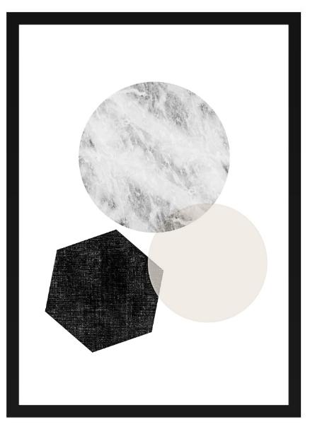 Poster - Geometrisk x 3