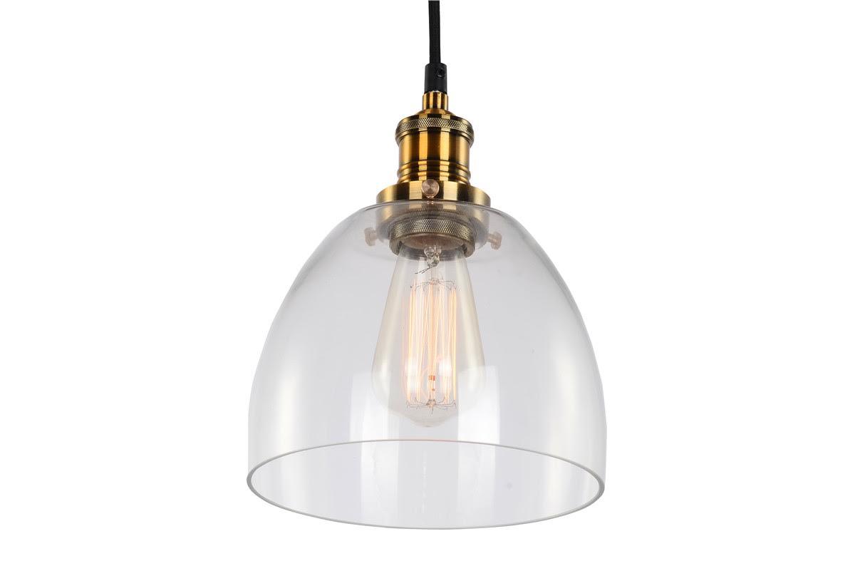 Taklampa vintage - Mässing och glas  Köp lampor hos Reforma Sthlm
