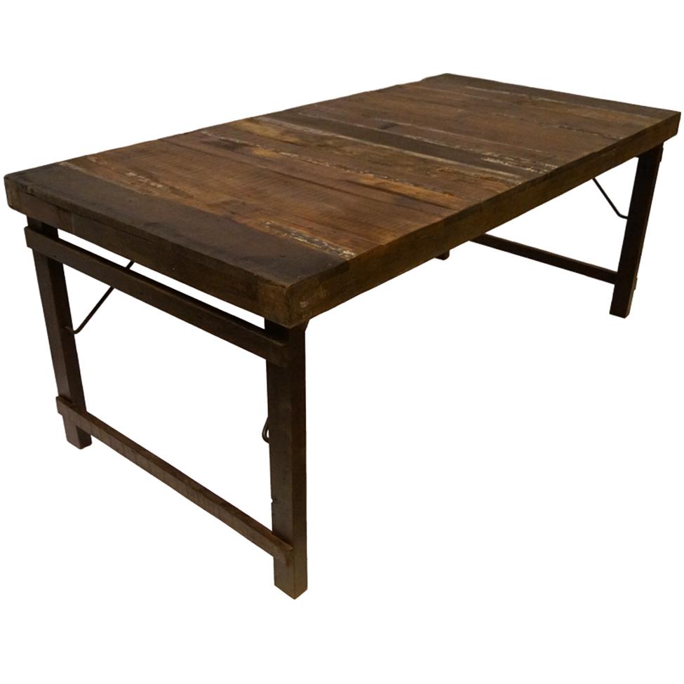 Matbord - Trä/Järn 180 x 90