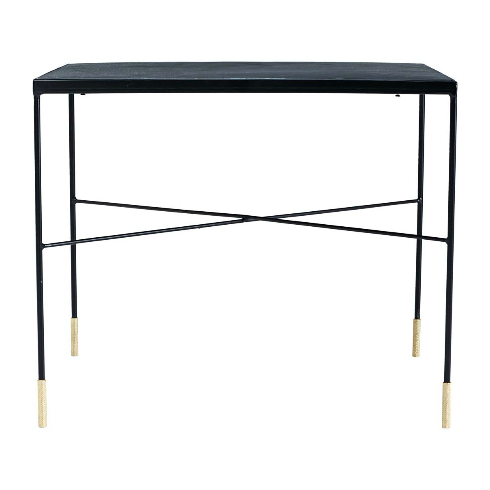 sidobord ox svart guld l reforma sthlm. Black Bedroom Furniture Sets. Home Design Ideas