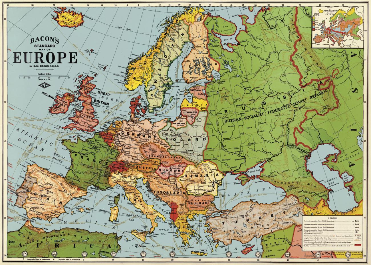 karta vintage Poster   Karta Europa Vintage   Reforma Sthlm karta vintage