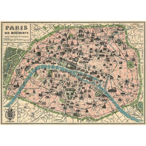 Poster Carte Paris Reforma Sthlm